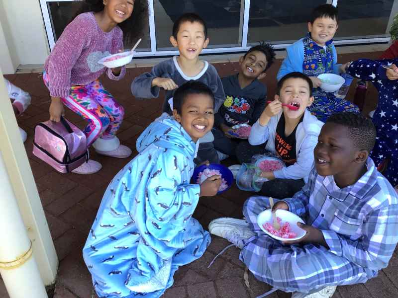 Rice and PJ Day